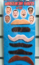 mustache party stick-on mustaches