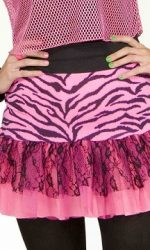 1980s neon pink party skirts