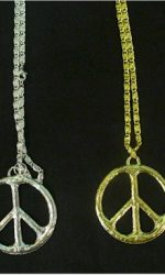 1960s peace sign necklace