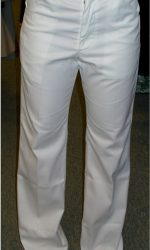 1970s white flared pants