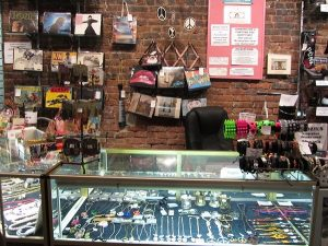 about our vintage clothing store: jewelry display