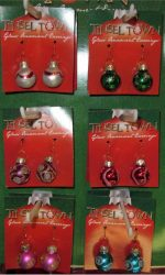 glass ornament Christmas earrings