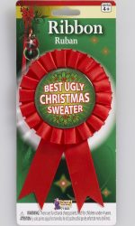 best ugly sweater ribbon ugly sweater Christmas party