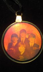 Beatles jewelry hologram necklace