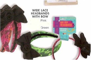 80s neon lace headbands