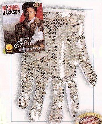 Michael Jackson glove silver sequin glove