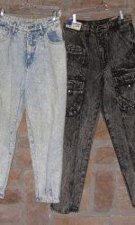 1980s acid washed jeans