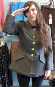 1940s 1950s outfits army jacket