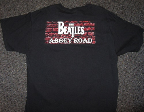 Beatles abbey road t-shirtback