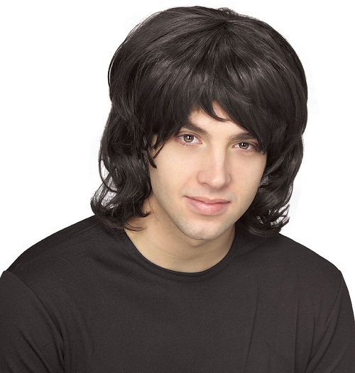 70s costume shag wig black
