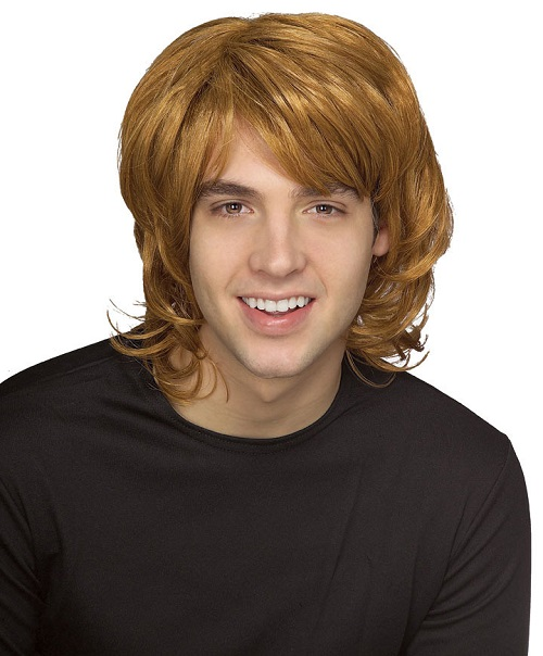 70s costume shag wig blonde