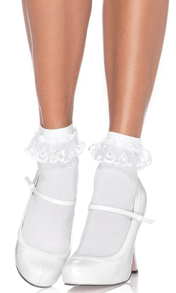1950s bobby socks with lace ankle sox