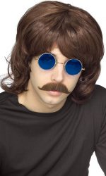 70s costume shag wig brown