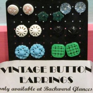 antique button earrings handmade earrings