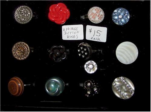 handmade rings button rings
