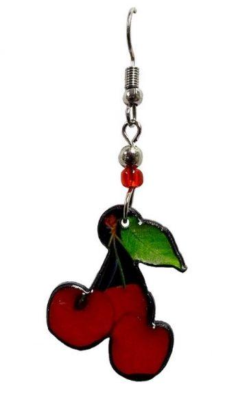 Cherry earrings acrylic