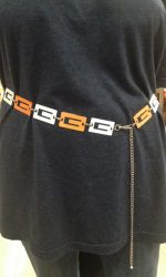 Multi-color go go chain belt