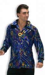Dynomite shiny disco outfit shirt