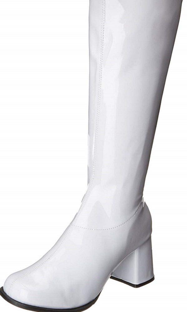 white go go boots