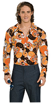 70s style orange groovy shirt