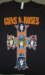 guns n roses appetite for destruction baby tee