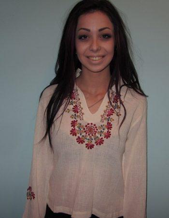embroidered hippie shirt