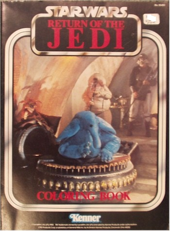 star wars return of the jedi coloring book
