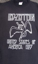 Led Zeppelin t-shirt Led Zeppelin 1977 American tour t-shirt with dates