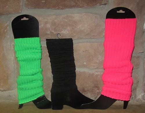 1980s style neon leg warmers