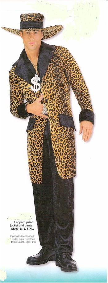 leopard jacket and pants pimp suit