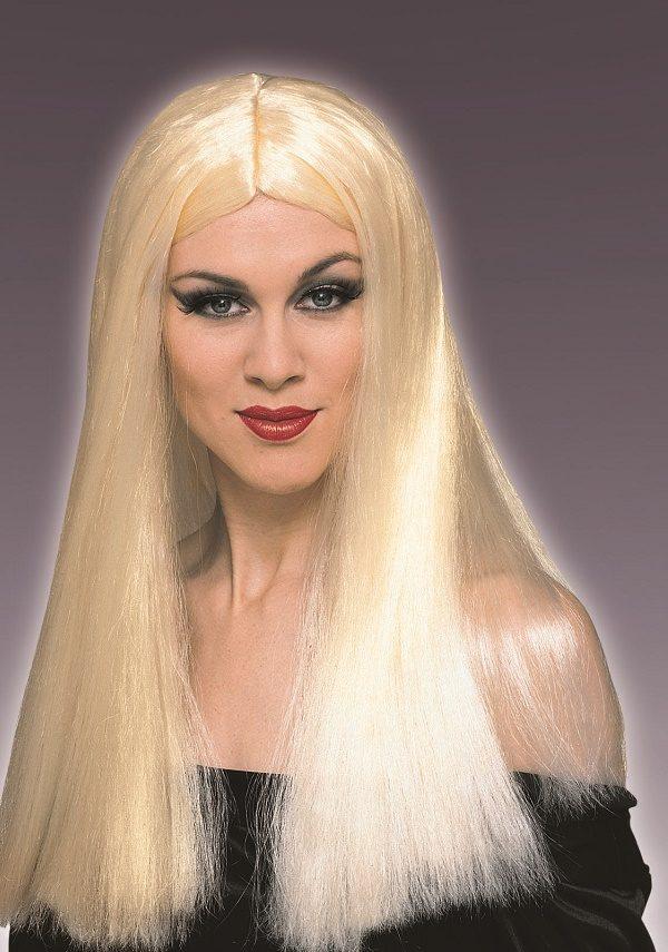 1960s hippie long wigs blonde