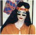 1960s hippie costume long wigs