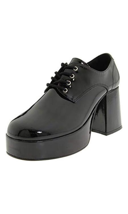 mens platform shoes black
