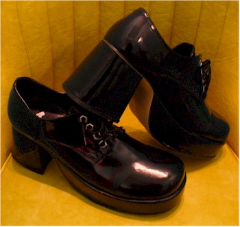 men's black platform shoes
