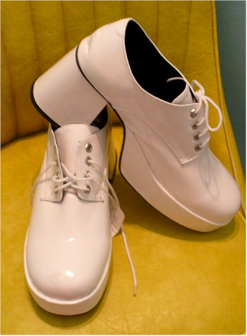 1970s mens white platform shoes