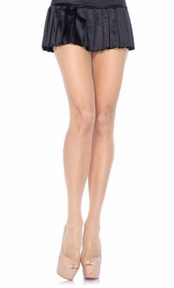 Nude fishnet pantyhose stockings