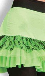 1980s neon green party skirts
