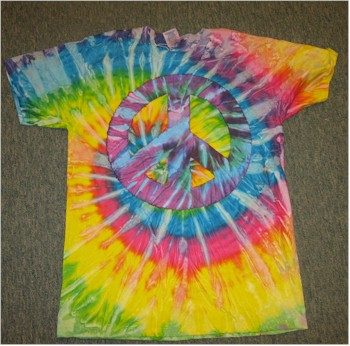 60s tie dye peace sign t-shirt