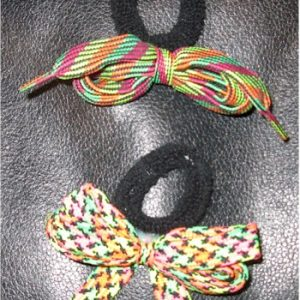 1980s neon ponytail holders