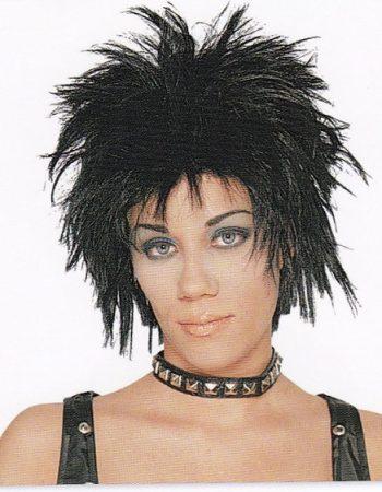 1980s punk wig black