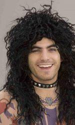 1980s rocker wig black