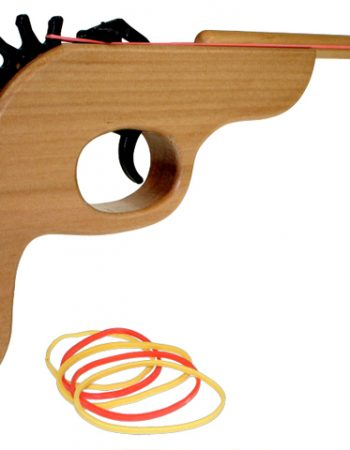 wooden rubber band shooter retro toy