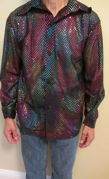 Disco sequin shirt multicolored
