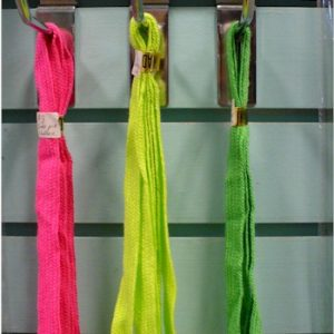 1980s neon shoelaces