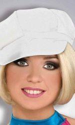 60s hat mod white cap vinyl hat