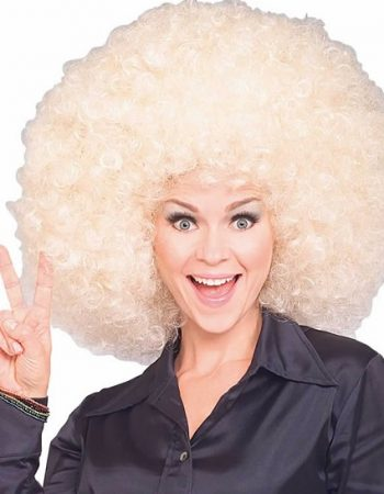 blonde super afro wigs oversized