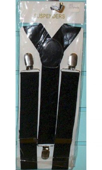 black suspenders clip on suspenders