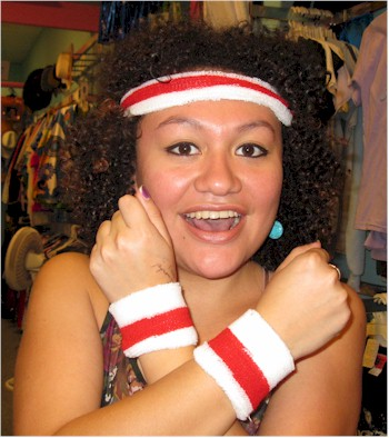 Lets Get Physical Sweatband Set