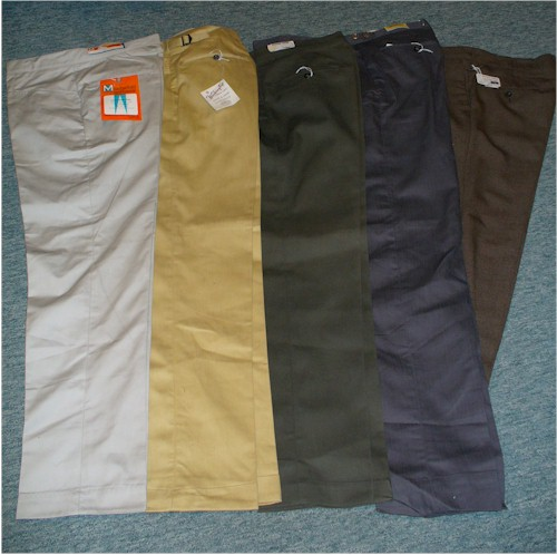 solid color tapered pants