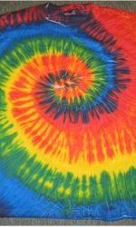 spiral tie dye t shirt